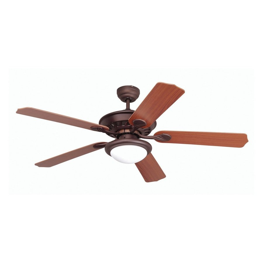 Yosemite Home Decor Lindsey 52-in Oil Rubbed Bronze Downrod or Close Mount Indoor Ceiling Fan with Light Kit and Remote Control