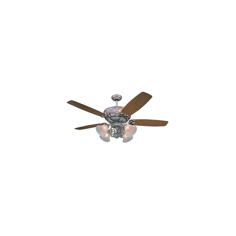 Yosemite Home Decor 60-in Queenie Antique Pewter Ceiling Fan with Remote