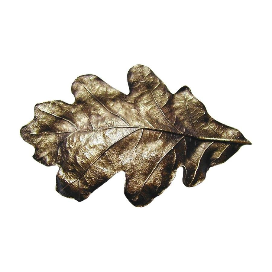 Notting Hill 3-in Center-To-Center Antique Brass Leaf Novelty Cabinet Pull