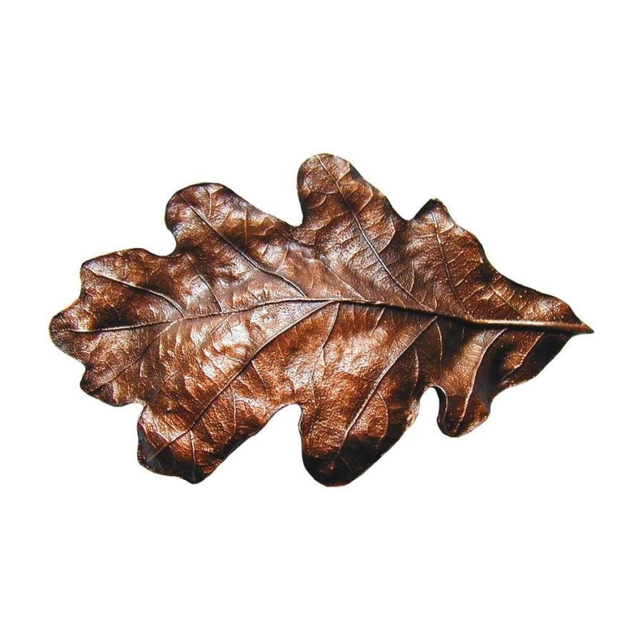 Notting Hill 3-in Center-to-Center Antique Copper Leaves Cabinet Pull
