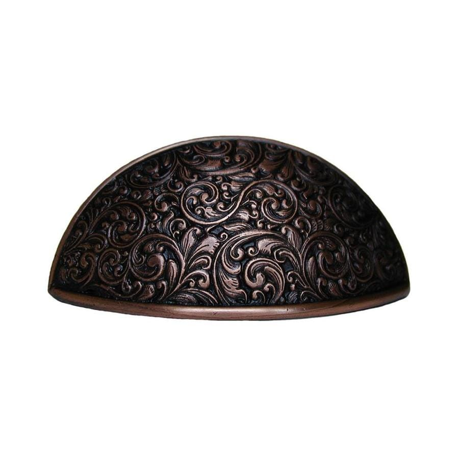 Notting Hill 3-in Center-To-Center Antique Copper Saddleworth Cup Cabinet Pull