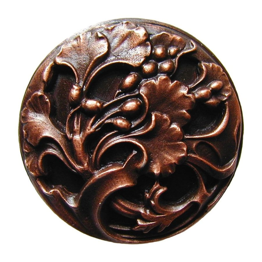 Notting Hill 1-3/8-in Copper Floral Round Cabinet Knob