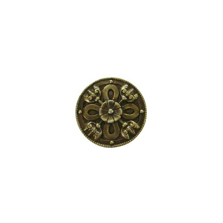 Notting Hill 1-1/8-in Brass Jewel Round Cabinet Knob