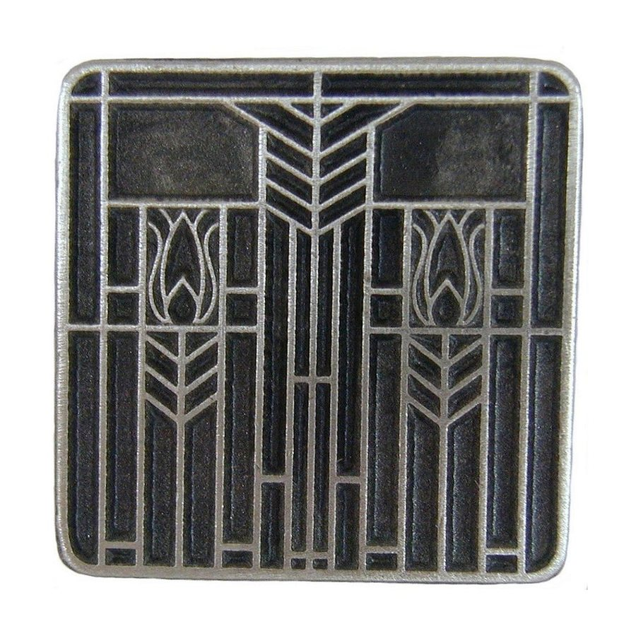 Notting Hill Prairie Antique Pewter Square Cabinet Knob