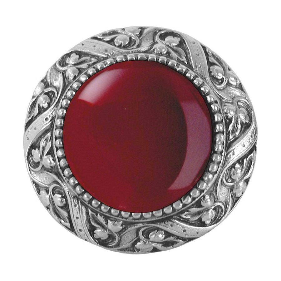 Notting Hill Victorian Jewel Carneliantique Pewter Round Cabinet Knob