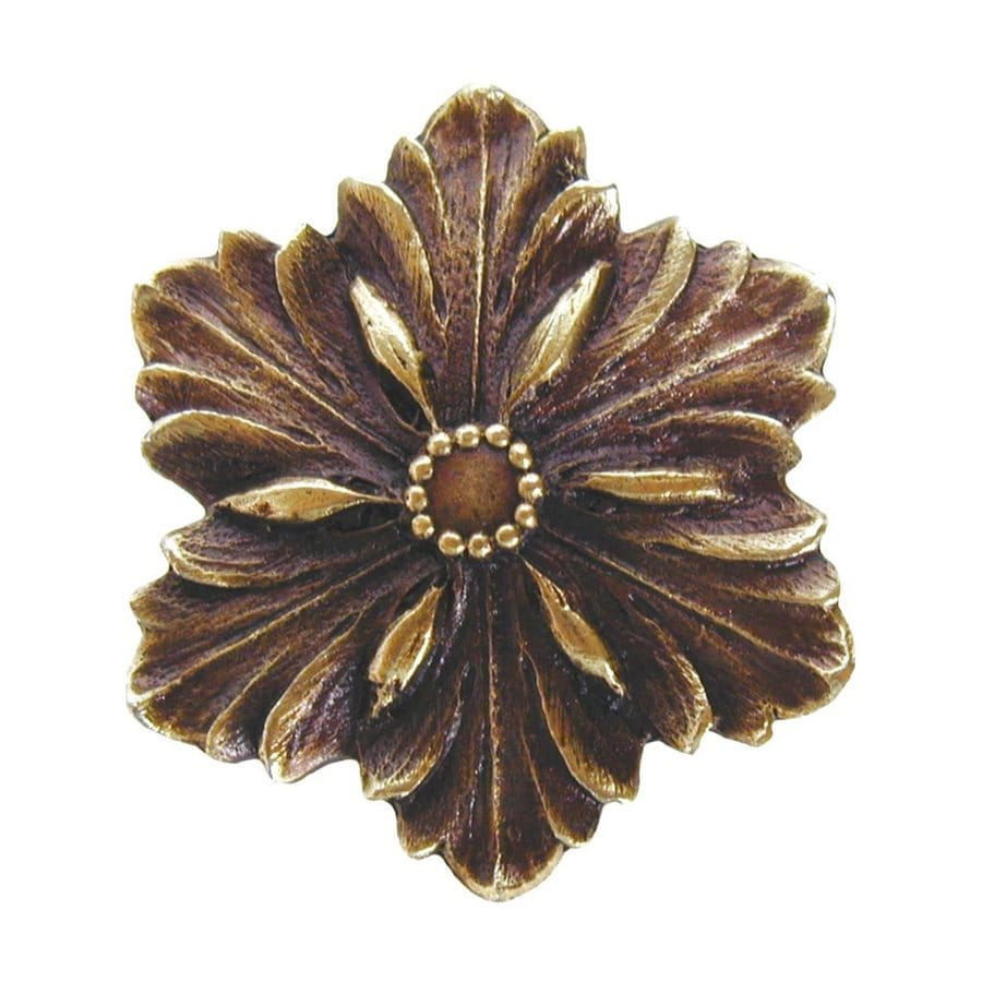 Notting Hill Opulent Flower Antique Brass Novelty Cabinet Knob