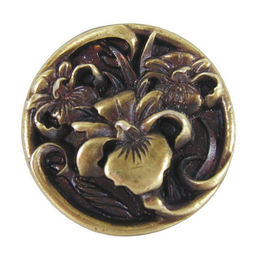 Notting Hill 1-3/8-in Brass Floral Round Cabinet Knob