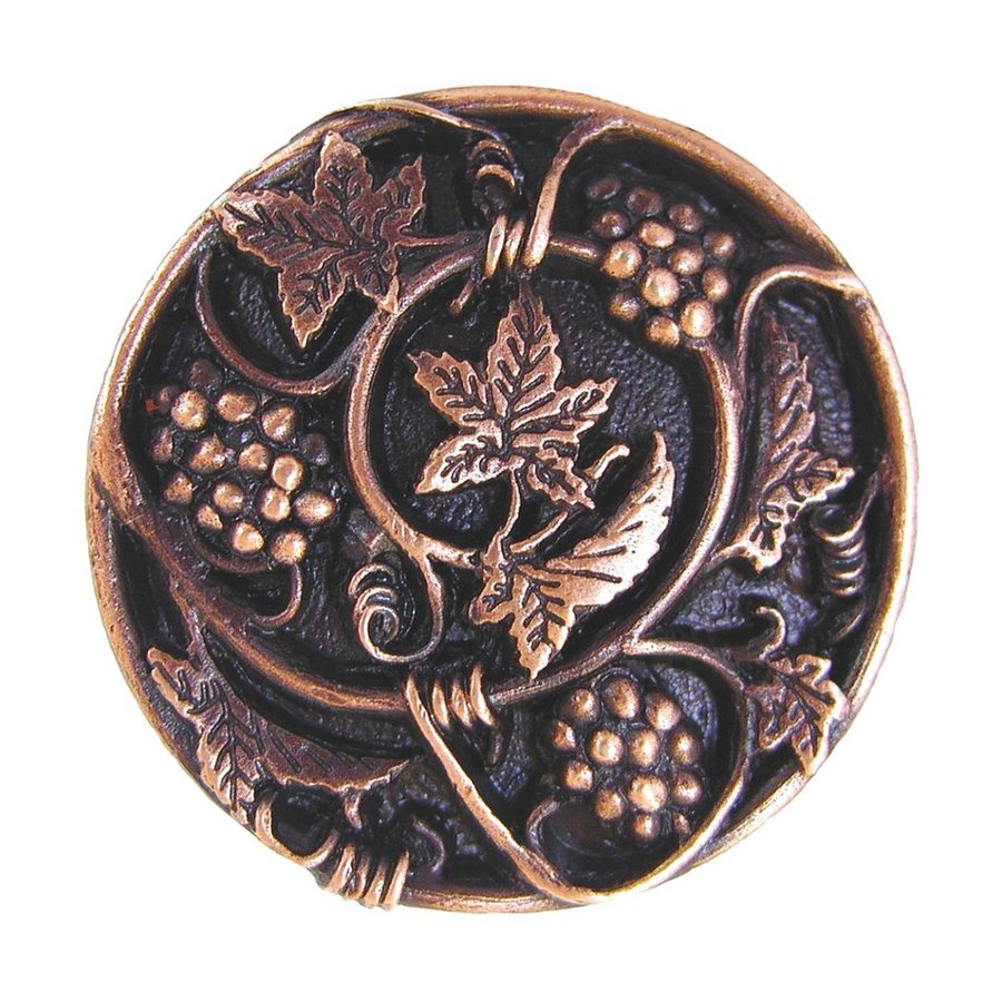 Notting Hill Tuscan Grapevines Antique Copper Round Cabinet Knob