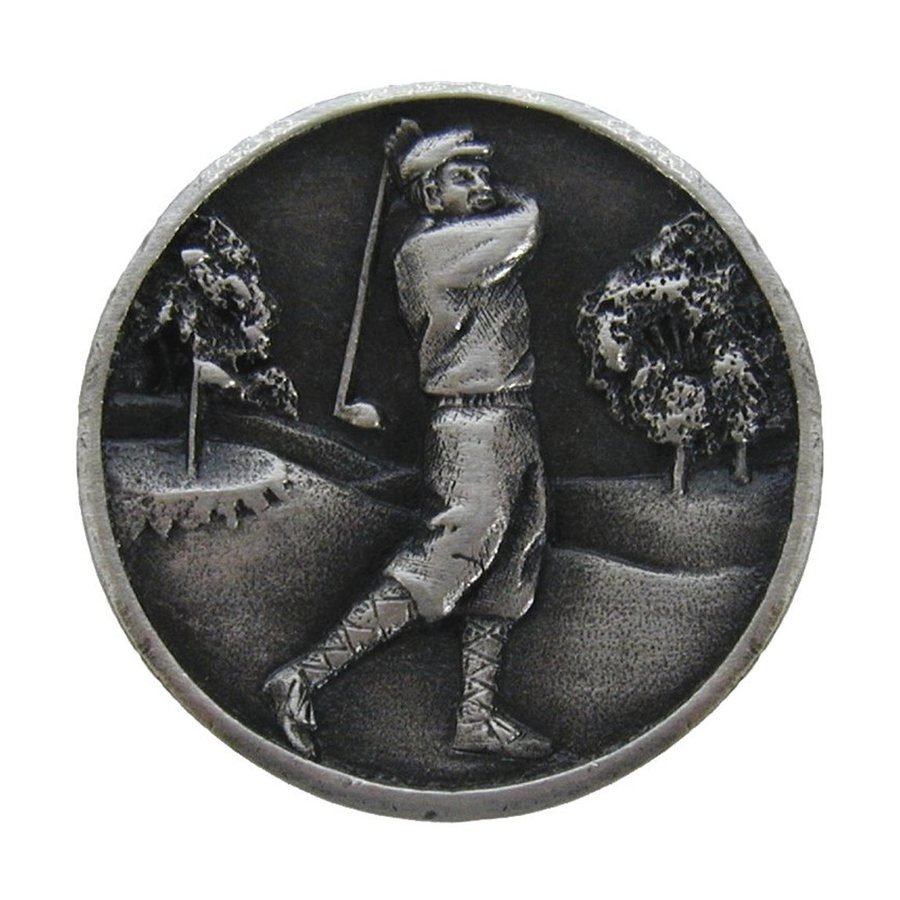 Notting Hill Gentleman Golfer Antique Pewter Round Cabinet Knob