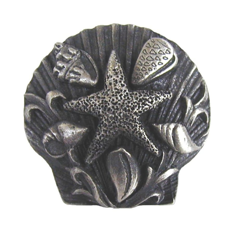 Notting Hill Seaside Collage Antique Pewter Novelty Cabinet Knob