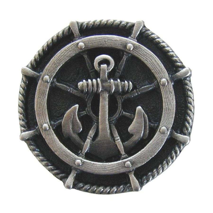Notting Hill Ships Wheel Antique Pewter Round Cabinet Knob
