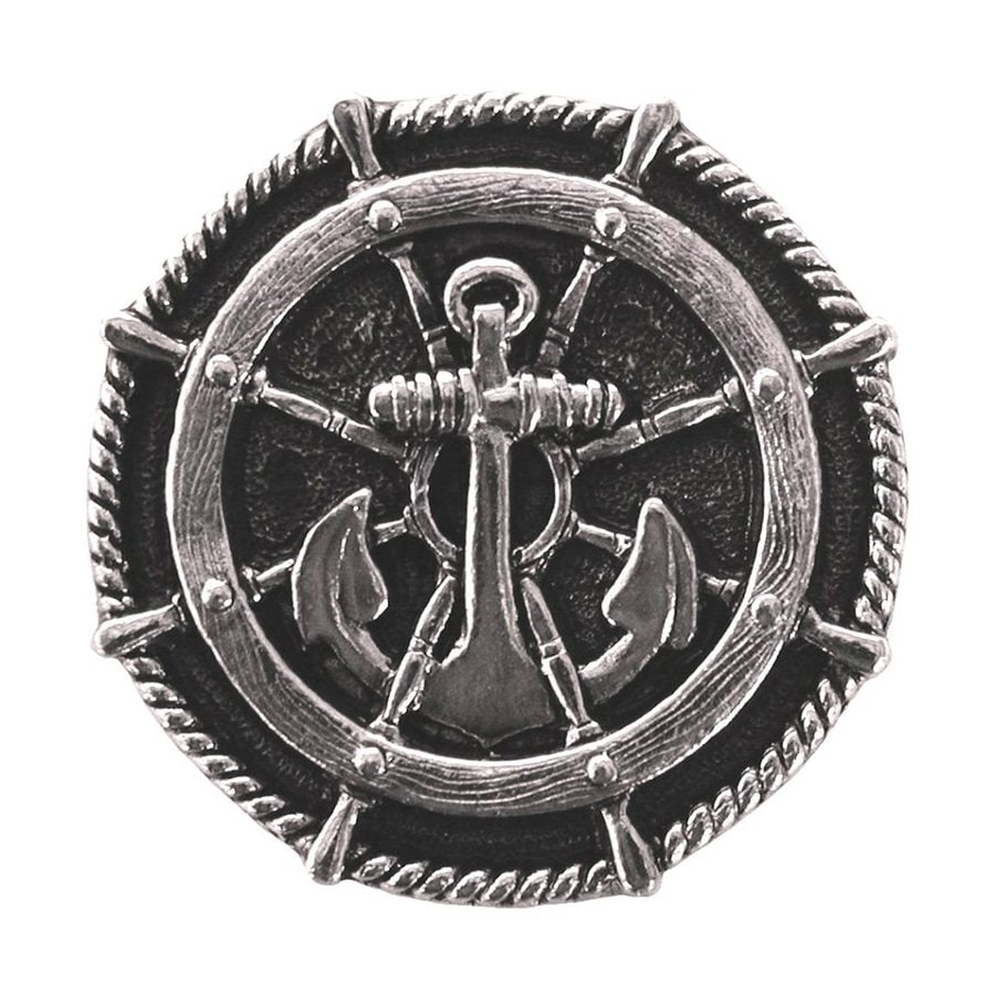 Notting Hill Ships Wheel Brite Nickel Round Cabinet Knob