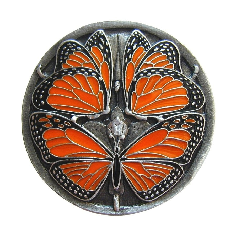 Notting Hill Monarch Enameled Pewter Round Cabinet Knob