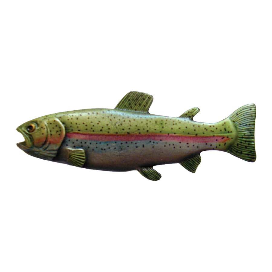 Notting Hill Rainbow Trout Hand Tinted Pewter Novelty Cabinet Knob