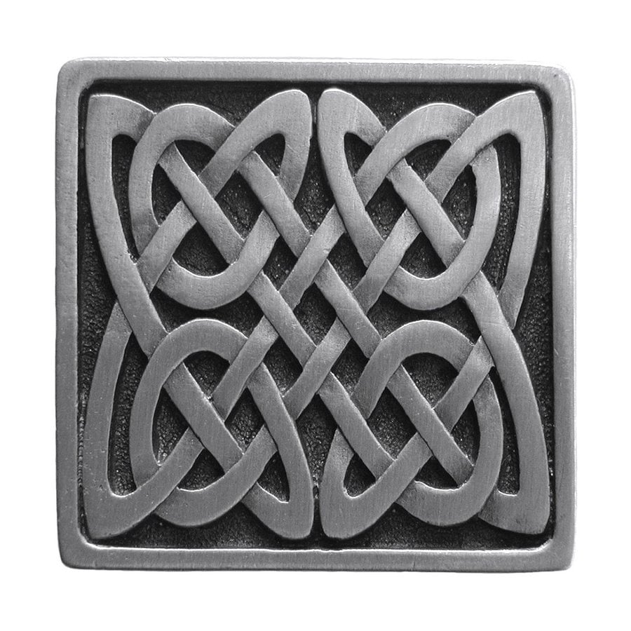 Notting Hill 1-3/8-in Pewter Jewel Square Cabinet Knob