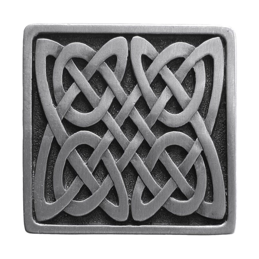 Notting Hill Celtic Isle Antique Pewter Square Cabinet Knob