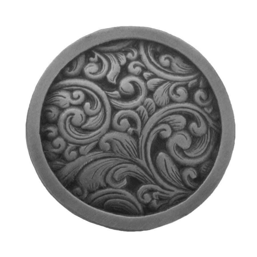 Notting Hill Sadddleworth Antique Pewter Round Cabinet Knob