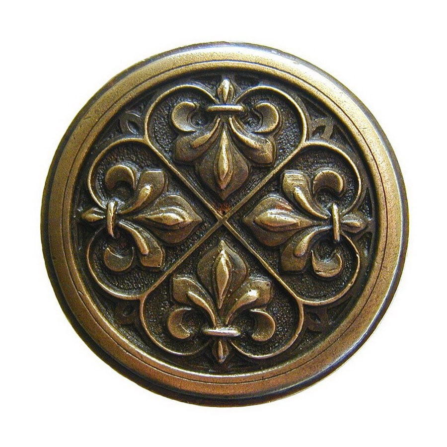 Notting Hill 1-3/8-in Brass Olde World Round Cabinet Knob