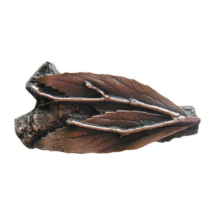 Notting Hill 2-1/8-in Copper Leaves Novelty Cabinet Knob