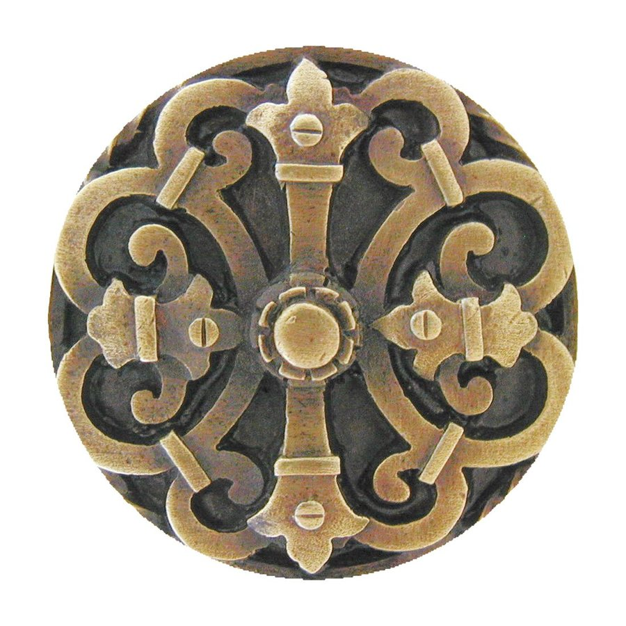 Notting Hill Chateau Antique Brass Round Cabinet Knob