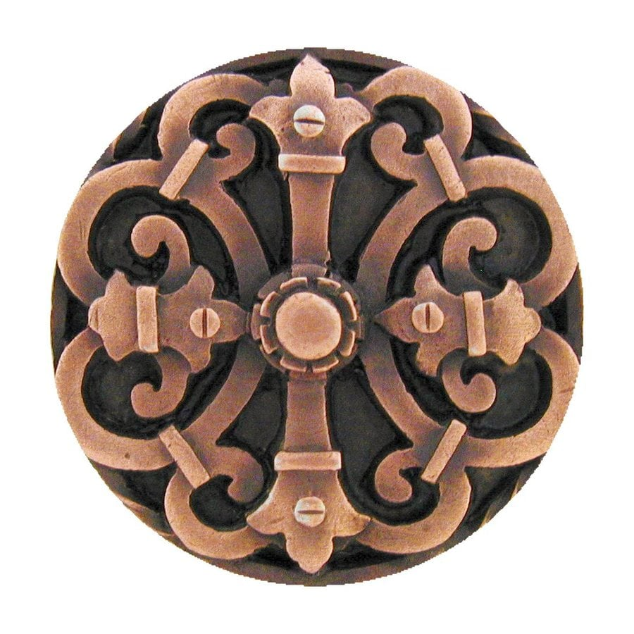 Notting Hill Chateau Antique Copper Round Cabinet Knob