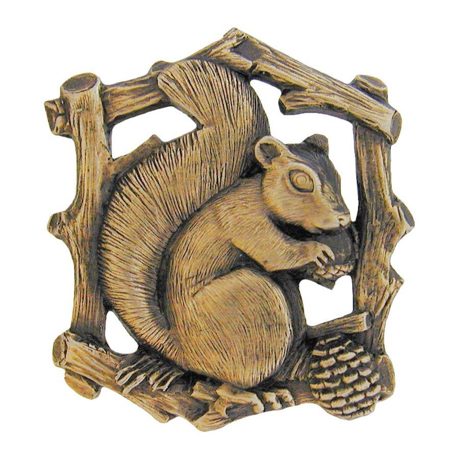 Notting Hill Grey Squirrel Antique Brass Novelty Cabinet Knob