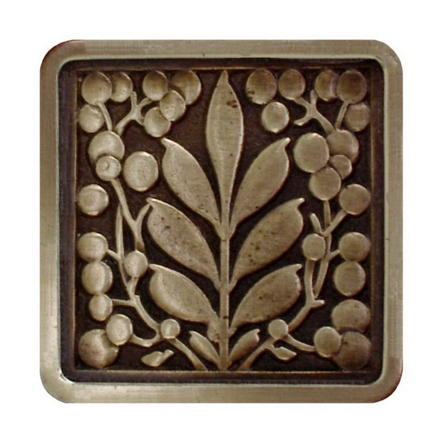 Notting Hill 1-3/8-in Brass English Garden Square Cabinet Knob