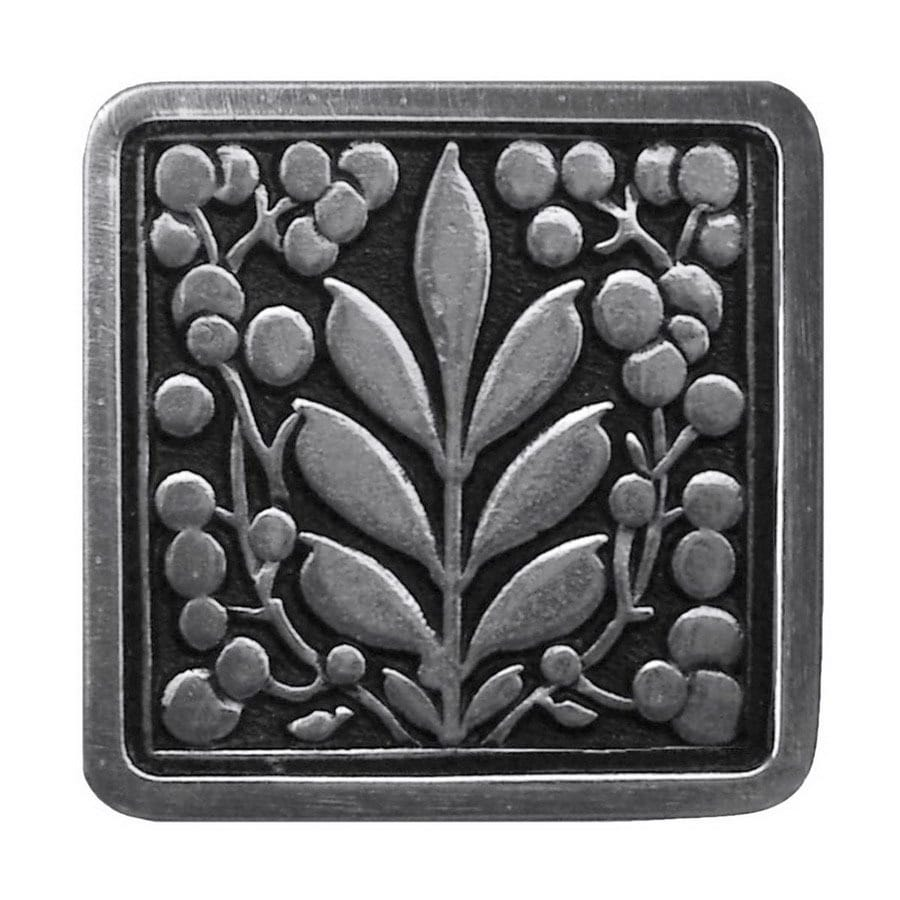 Notting Hill 1-3/8-in Pewter English Garden Square Cabinet Knob