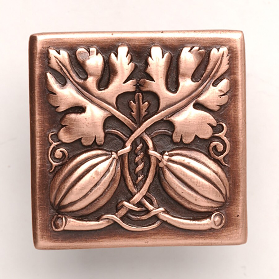 Notting Hill 1-1/2-in Copper Kitchen Garden Square Cabinet Knob