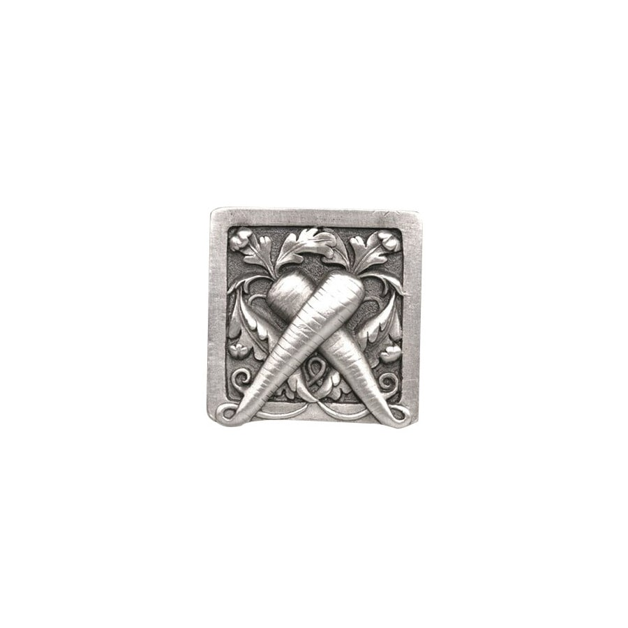 Notting Hill 1-1/2-in Pewter Kitchen Garden Square Cabinet Knob