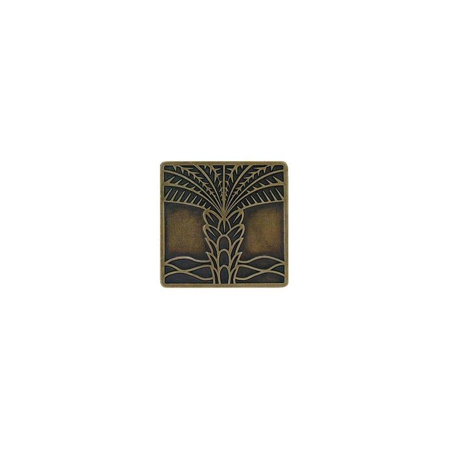 Notting Hill 1-1/2-in Brass Tropical Square Cabinet Knob
