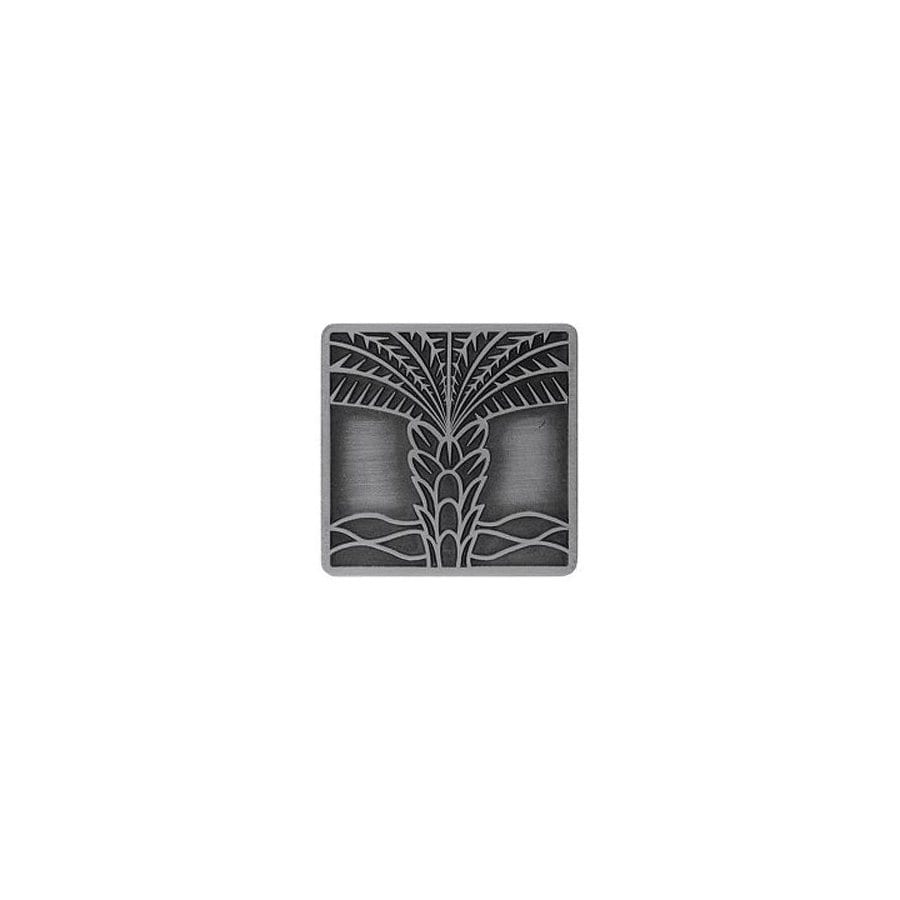 Notting Hill 1-1/2-in Pewter Tropical Square Cabinet Knob