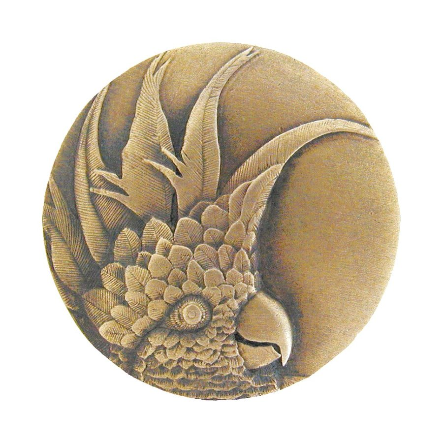 Notting Hill Small Cockatoo Antique Brass Round Cabinet Knob