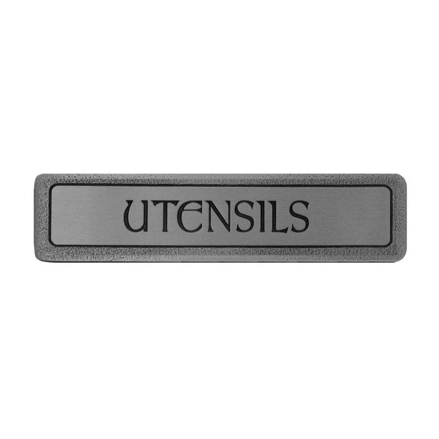 Notting Hill 3-in Center-to-Center Antique Solid Pewter Fun in the Kitchen Rectangular Cabinet Pull