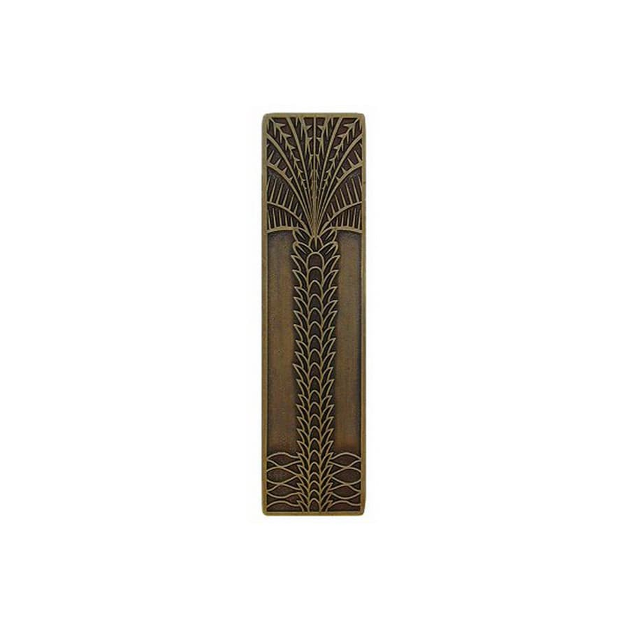Notting Hill 3-in Center-to-Center Antique Brass Tropical Rectangular Cabinet Pull