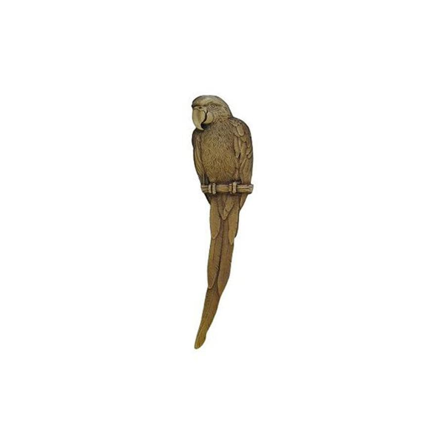 Notting Hill 3-in Center-to-Center Antique Brass Tropical Macaw Novelty Cabinet Pull