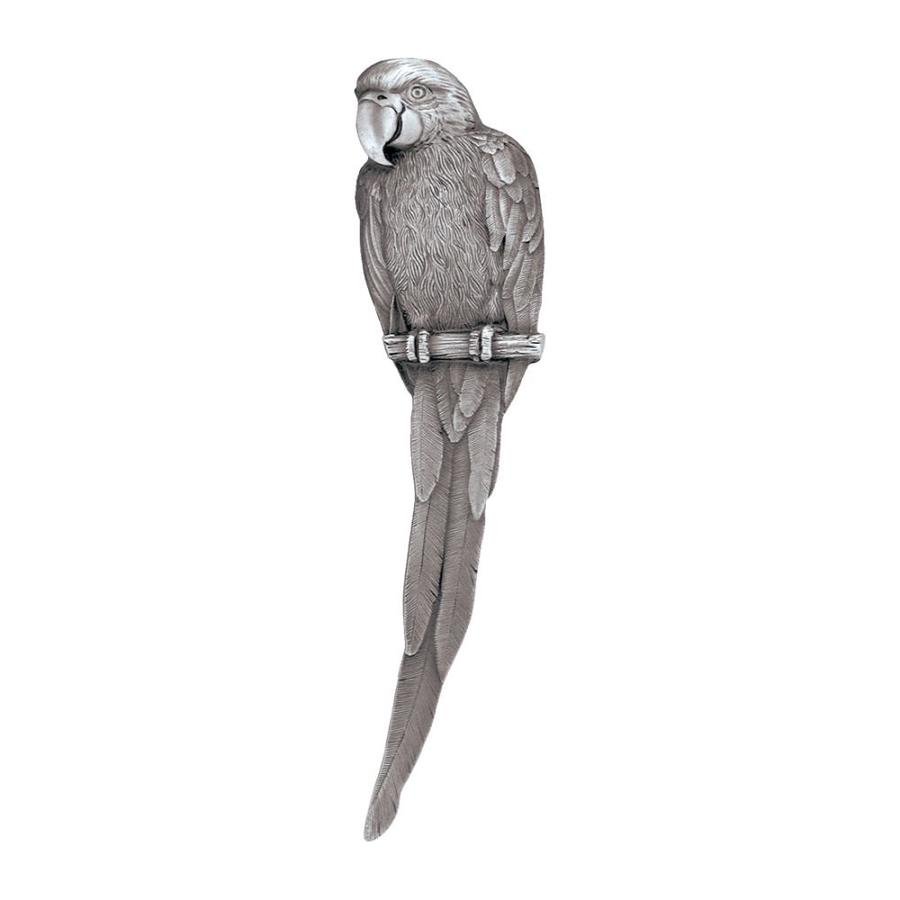 Notting Hill 3-in Center-To-Center Antique Pewter Tropical Macaw Right Facing Cabinet Pull
