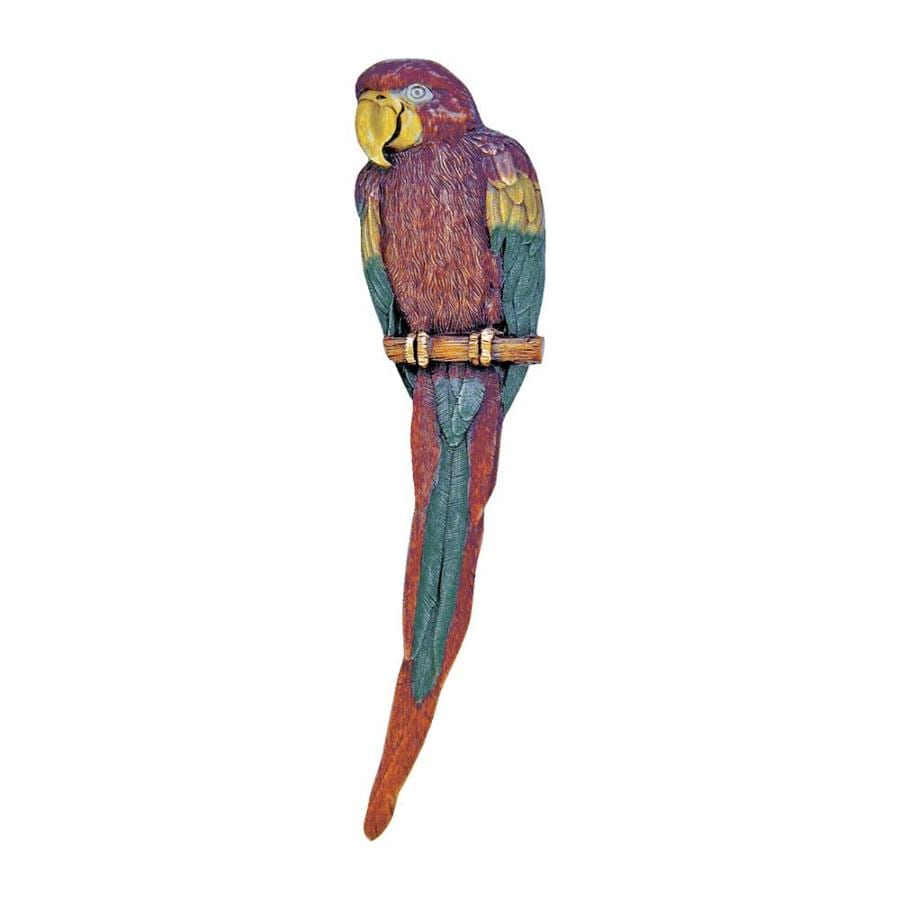 Notting Hill Brass Hand Tint Tropical Novelty Shaped Macaw Right Facing Pull