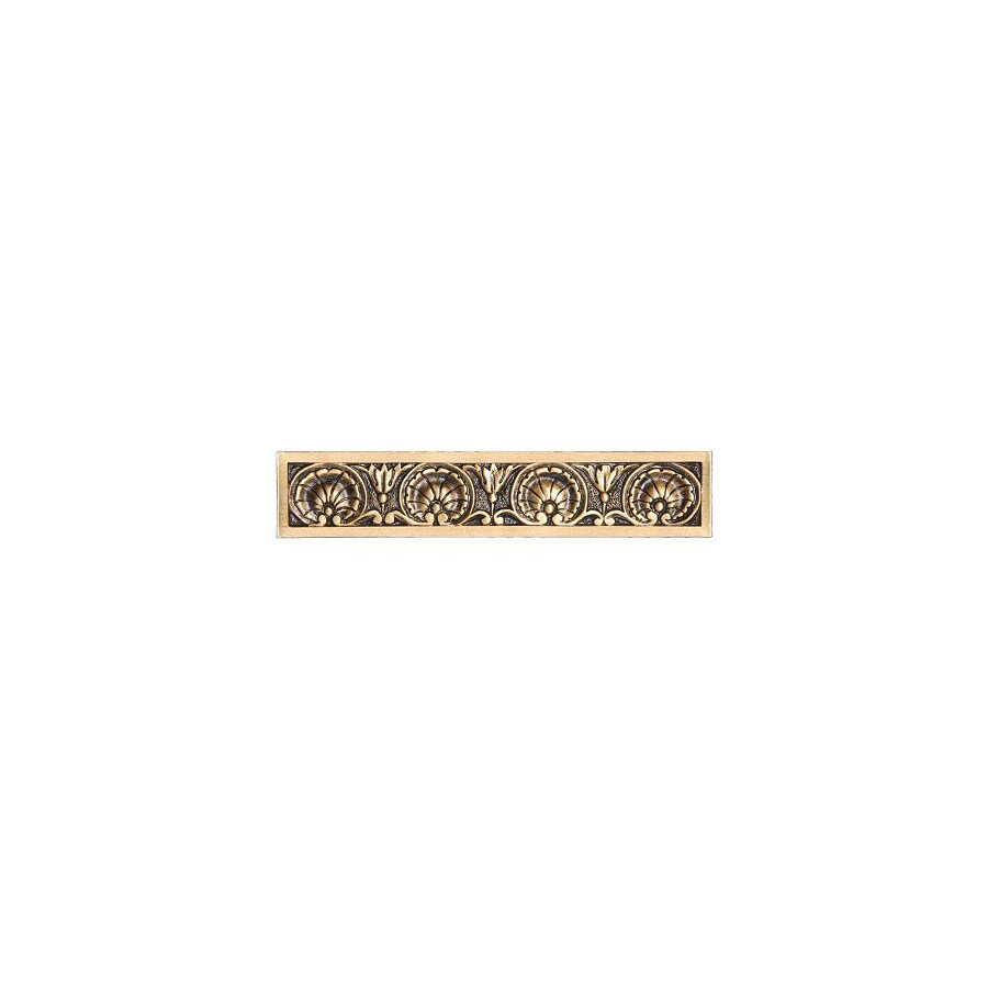 Notting Hill 4-in Center-to-Center 24K Satin Gold Kings Road Rectangular Cabinet Pull