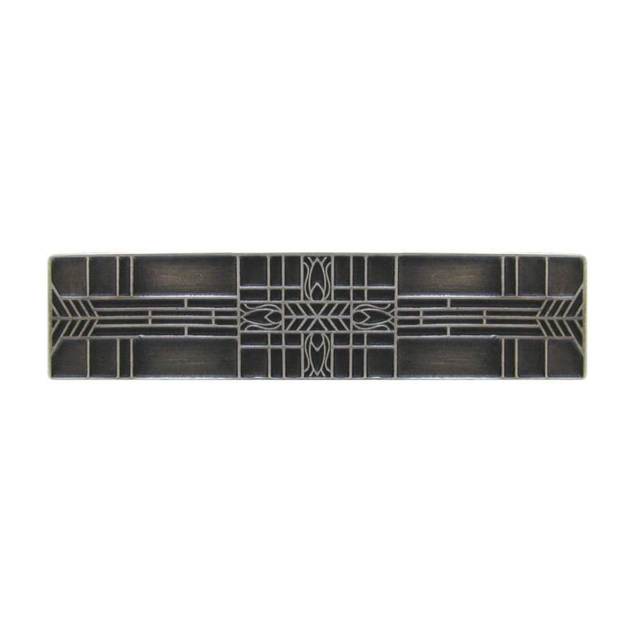 Notting Hill 3-in Center-to-Center Antique Solid Pewter Arts and Crafts Rectangular Cabinet Pull