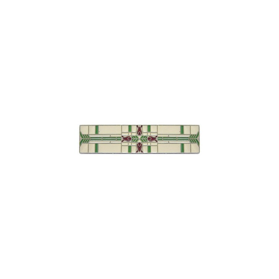 Notting Hill 3-in Center-to-Center Enameled Pewter Arts and Crafts Rectangular Cabinet Pull