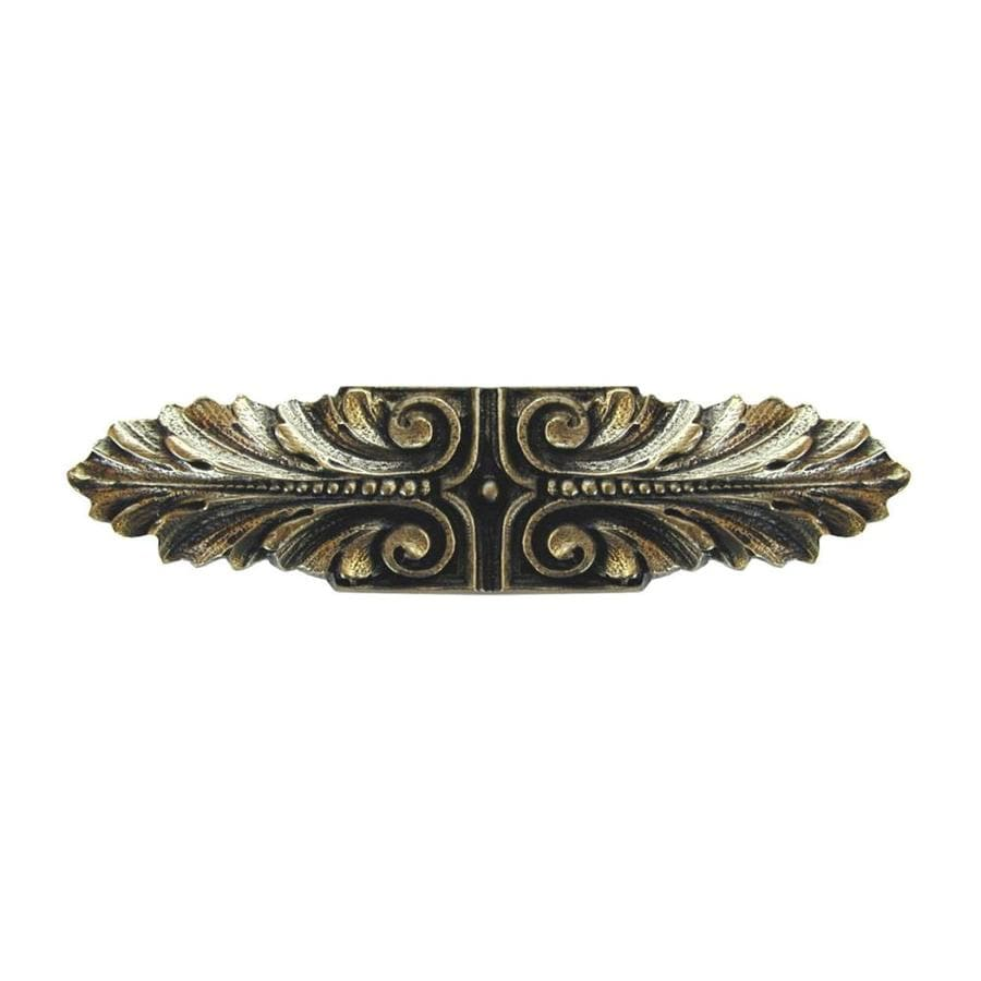 Notting Hill 3-in Center-To-Center Brite Brass Opulent Scroll Bar Cabinet Pull