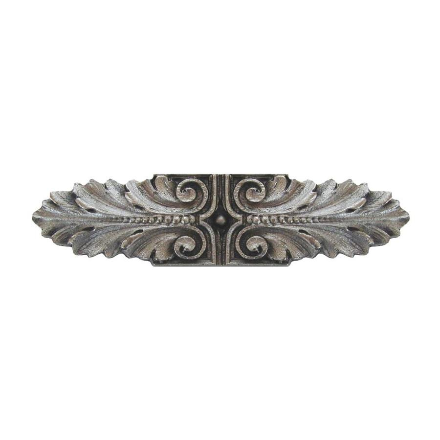 Notting Hill 3-in Center-to-Center Satin Nickel Opulent Scroll Bar Cabinet Pull