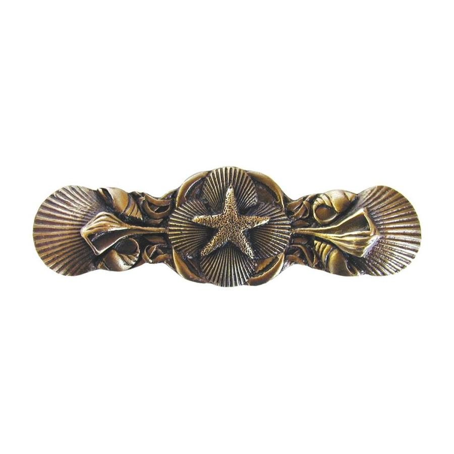 Notting Hill 3-in Center-To-Center Antique Brass Seaside Collage Novelty Cabinet Pull