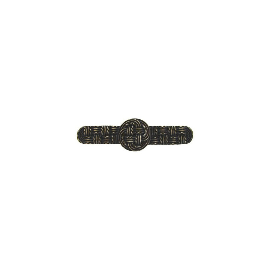 Notting Hill 3-in Center-to-Center Antique Brass Classic Cabinet Pull