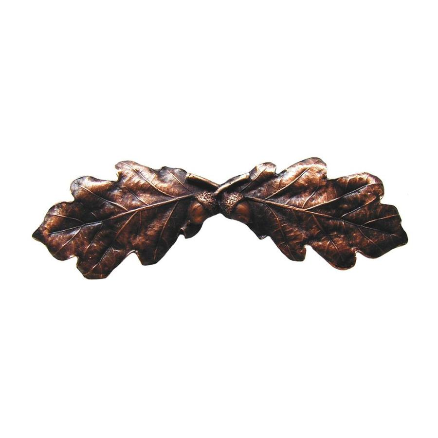Notting Hill 3-in Center-To-Center Antique Copper Leaves Novelty Cabinet Pull