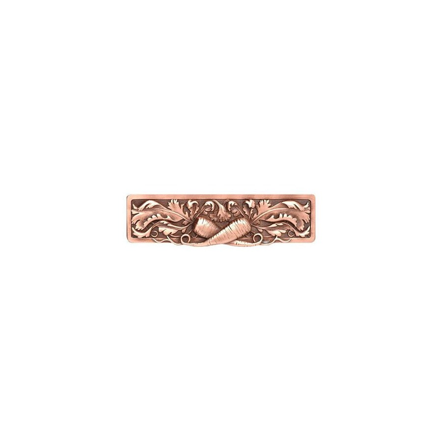 Notting Hill 3-in Center-to-Center Antique Copper Kitchen Garden Rectangular Cabinet Pull