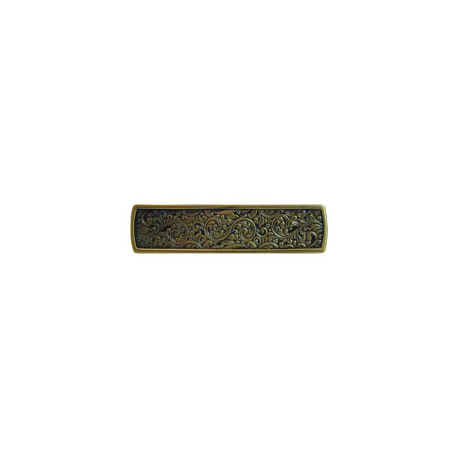Notting Hill 3-in Center-to-Center Antique Brass Classic Rectangular Cabinet Pull