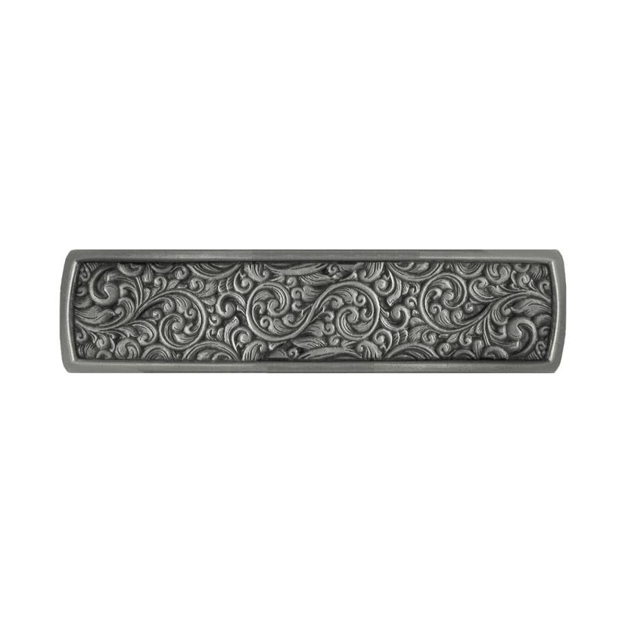 Notting Hill 3-in Center-to-Center Antique Pewter Saddleworth Rectangular Cabinet Pull