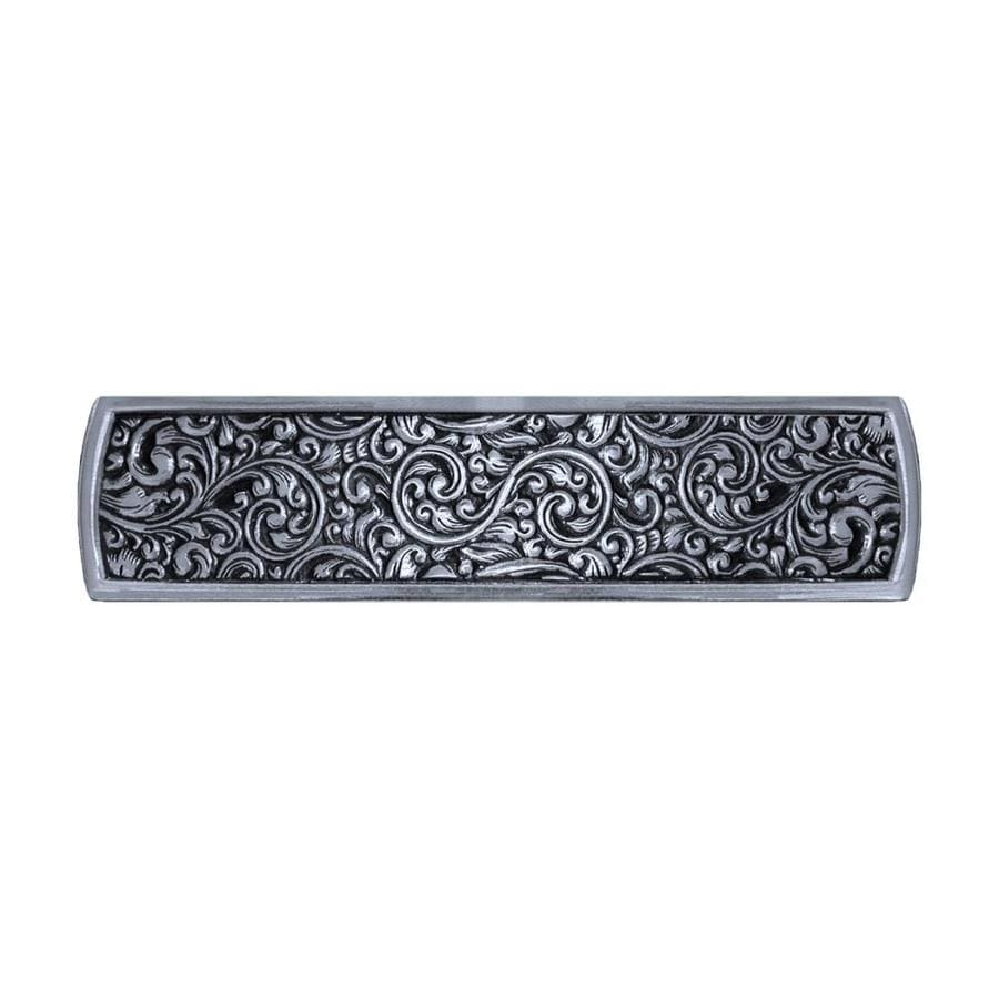 Notting Hill 3-in Center-To-Center Brite Nickel Saddleworth Rectangular Cabinet Pull